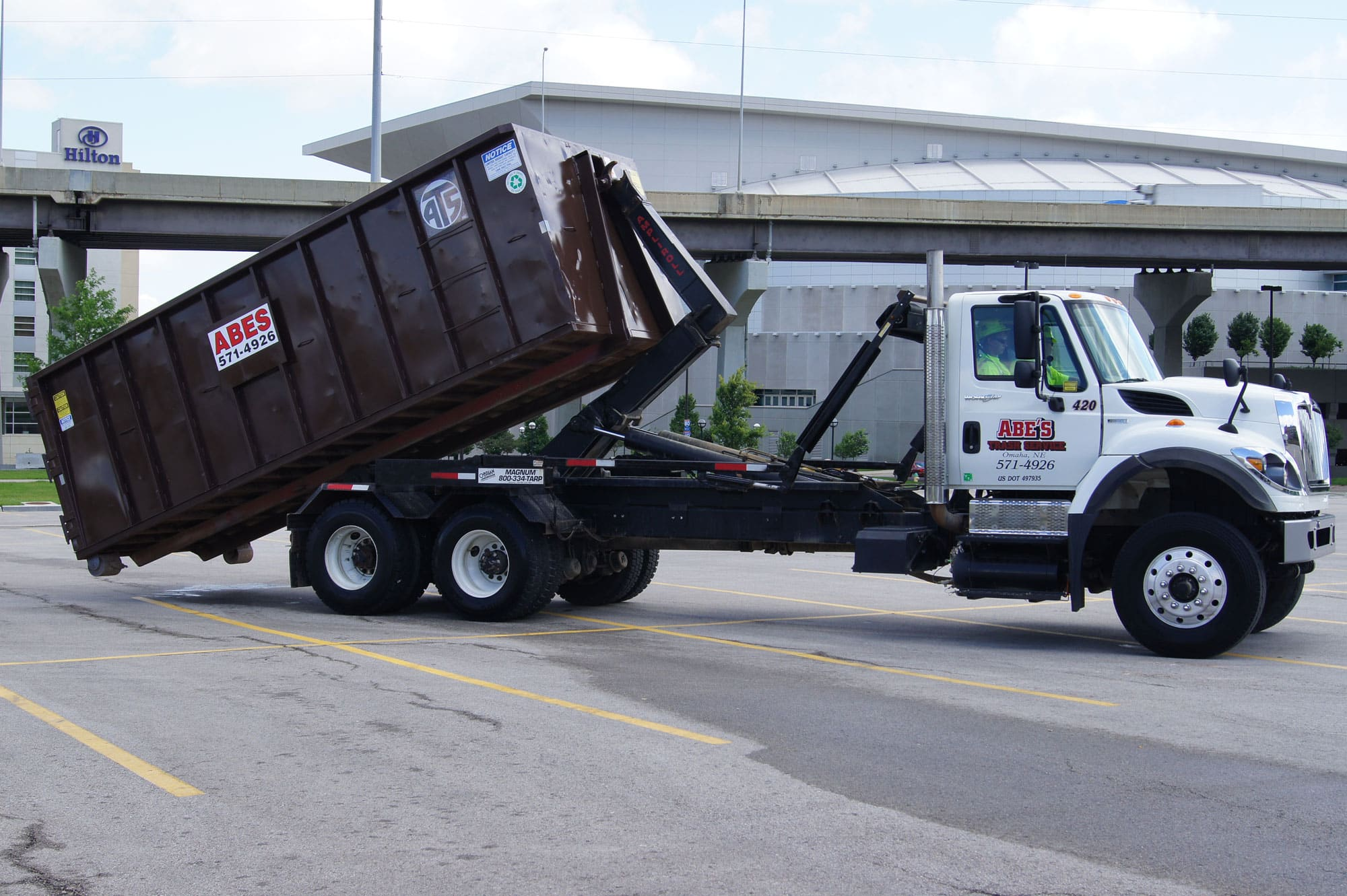 Roll Off Dumpster Rental Service Omaha Abe S Trash Removal
