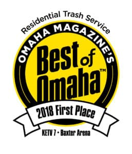 2018 First Place Award - Residential Trash Service - Best of Omaha