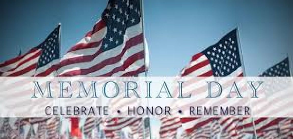NOTICE: MEMORIAL DAY SERVICE DELAY